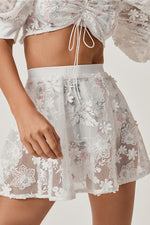 For Love and Lemons Crochet Daisy Skater Skirt