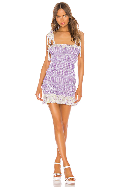 For Love and Lemons Lilac Mini Dress