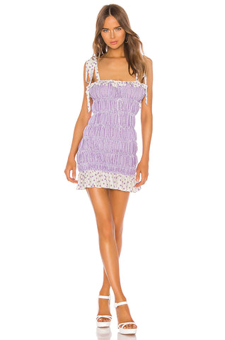 For Love and Lemons Catamaran Smocked Dress