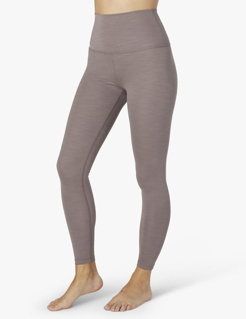 Beyond Yoga Heather Rib High Waisted Leggings Mocha Heather