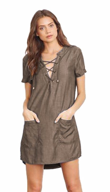 Lovers + Friends Waterfront Tie Dress