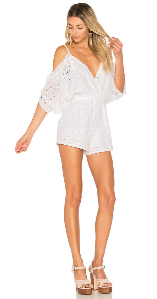 Lovers + Friends Malia Romper Eyelet