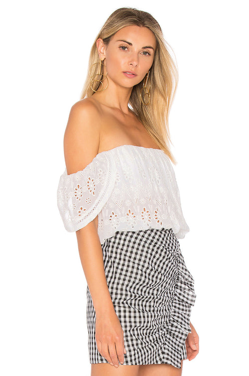 Lovers + Friends Life's A Beach Top Ivory