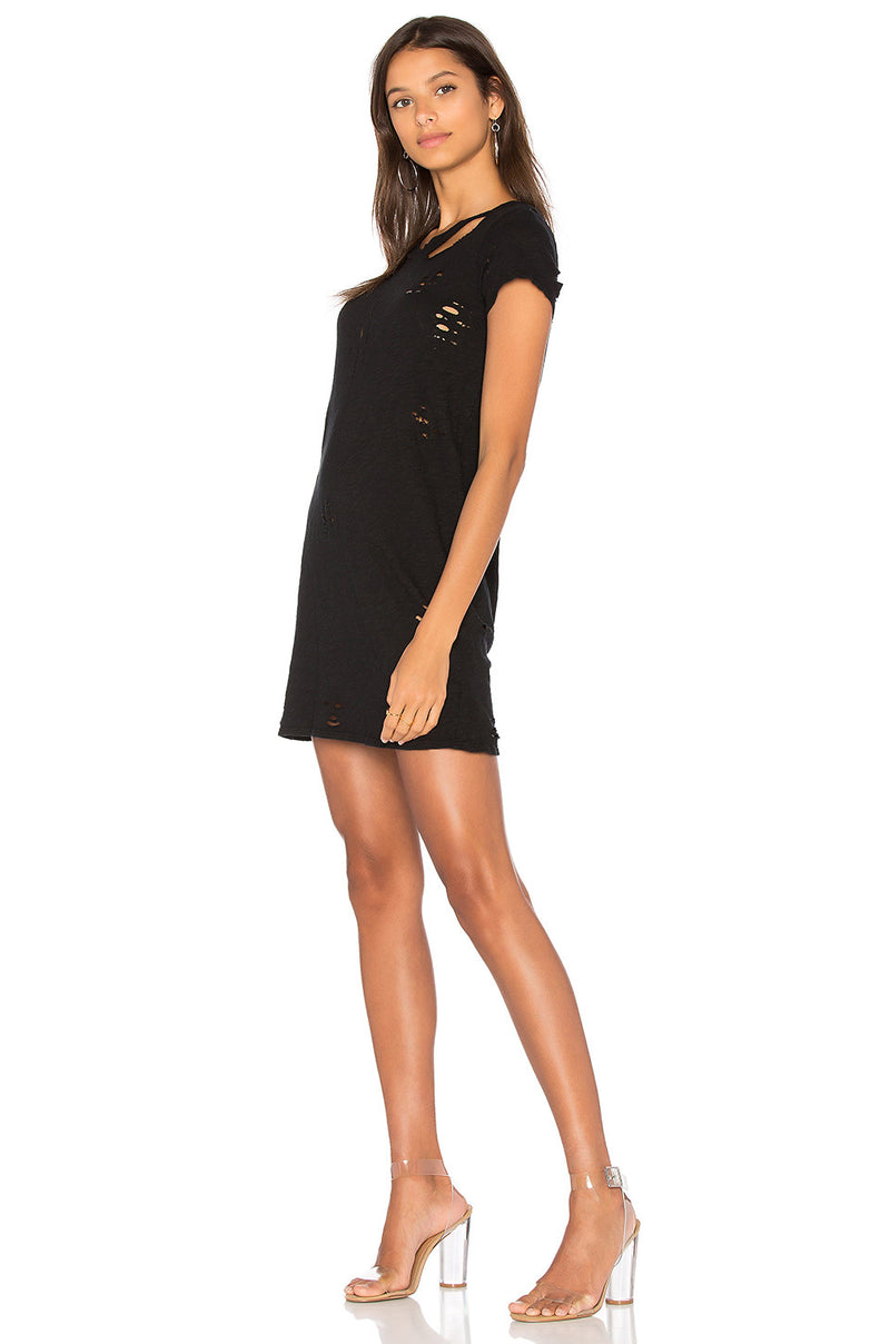 NYTT Distressed Slub Tee Dress