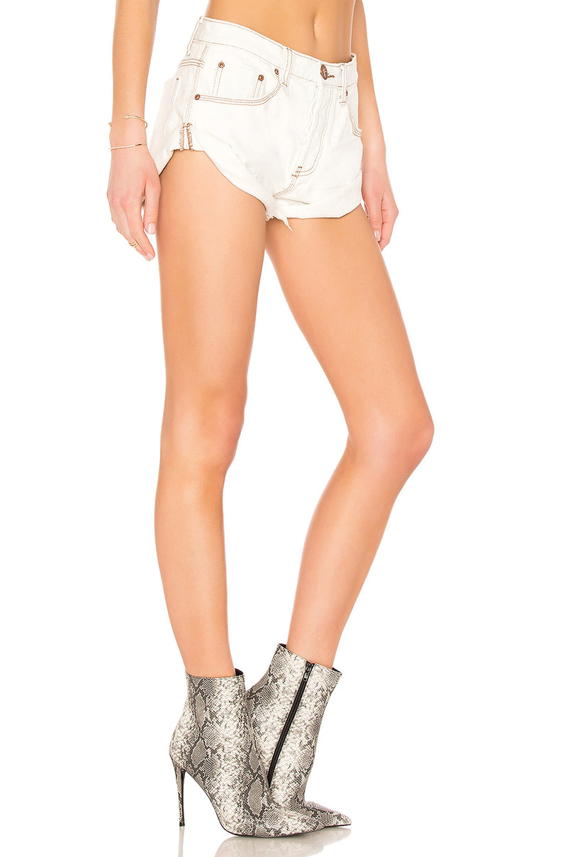 One Teaspoon Coconut Bandit Jean Shorts