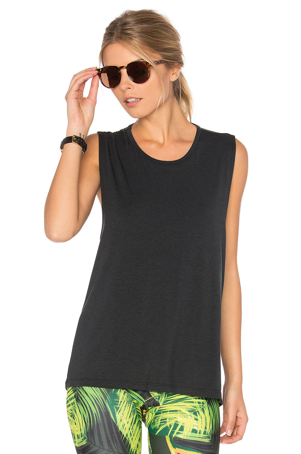Onzie Twist Back Top Black