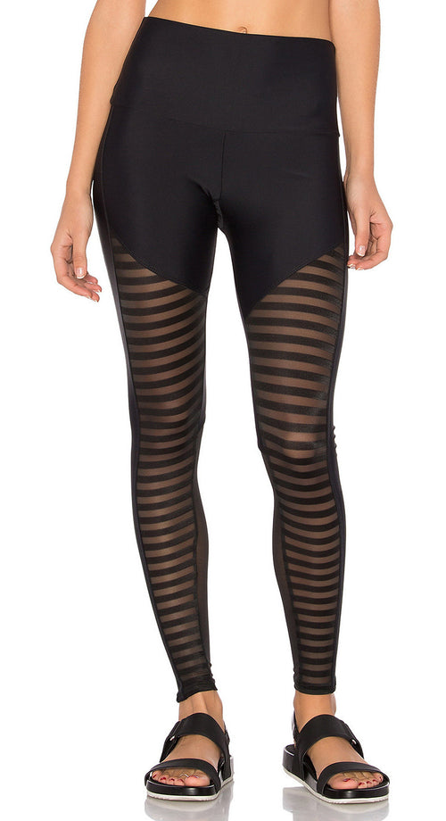 Onzie Fierce Legging Black Stripe Combo