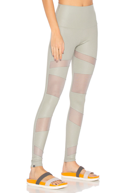 Onzie High Rise Legging Stone Fishnet