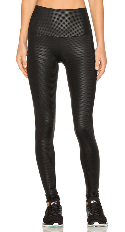 Onzie High Rise Legging Black Fishnet