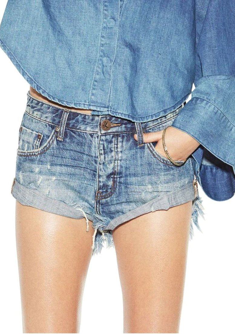 One Teaspoon Blue Suede Bandits Shorts