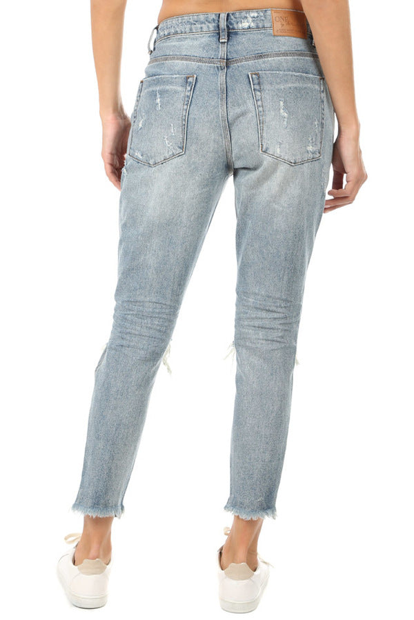 One Teaspoon High Waist Freebirds Skinny Jeans Storm Buoy