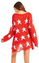 Wildfox Seeing Stars Lennon Sweater Scarlet
