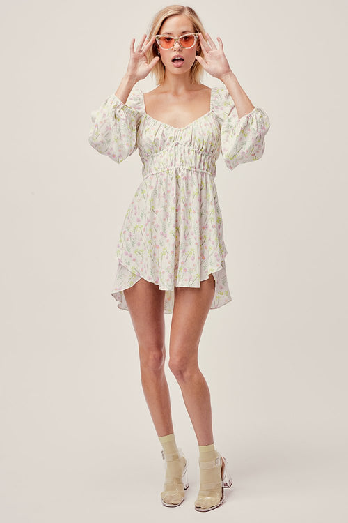 For Love and Lemons Strudel Floral Mini Dress