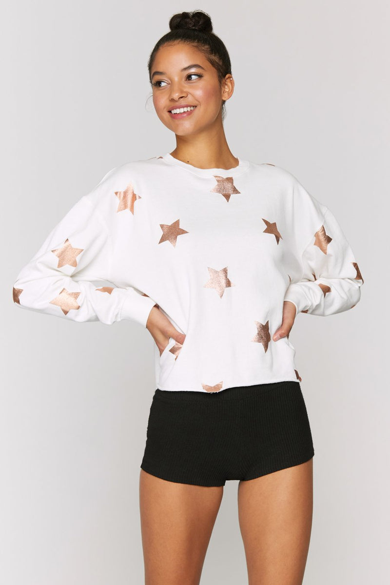 Spiritual Gangster Starry Mazzy Pullover Sweatshirt