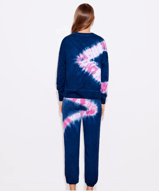 Sundry Navy Candy Tie Dye Sweatpants