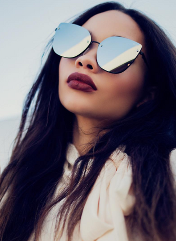 Quay Lexi Black Silver Sunglasses