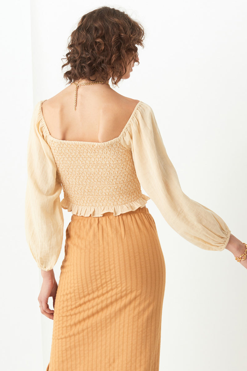 Spell & The Gypsy Jessie Jane Blouse Top Honey