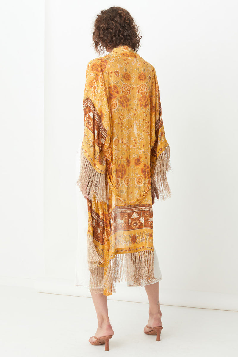 Spell & the Gypsy Mystic Tasseled Robe Maxi Sunflower