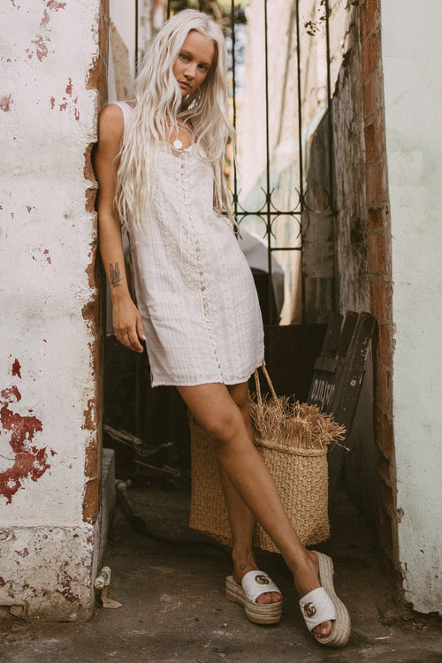 Spell & The Gypsy Cinder Singlet Mini Dress Off White