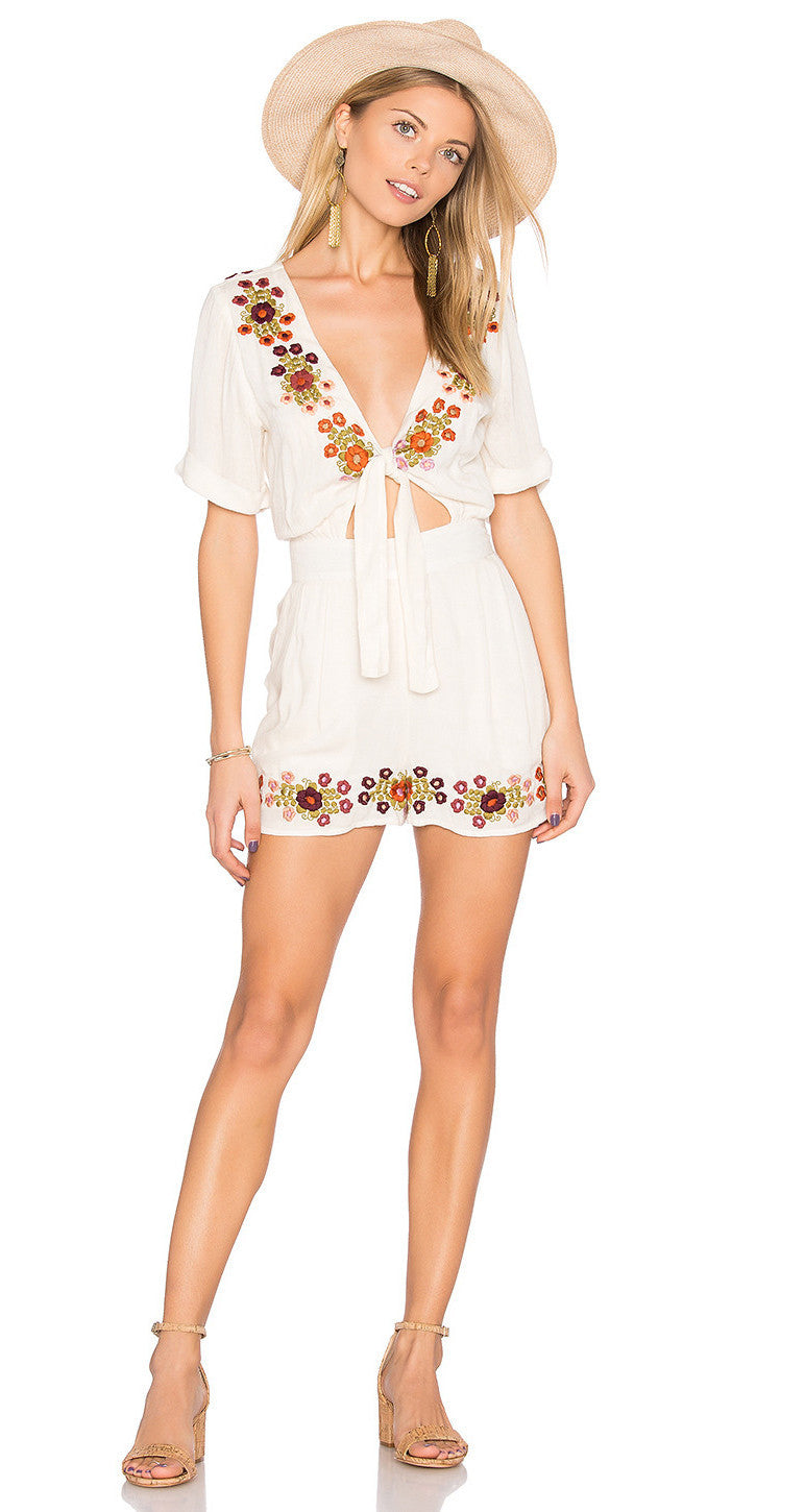 Tularosa Rowley Cut Out Romper