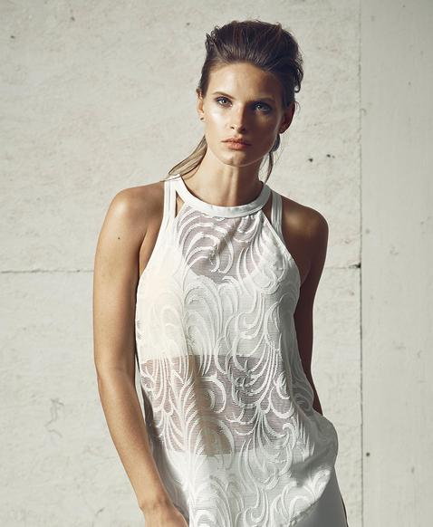 Vimmia Flourish Tank Top White