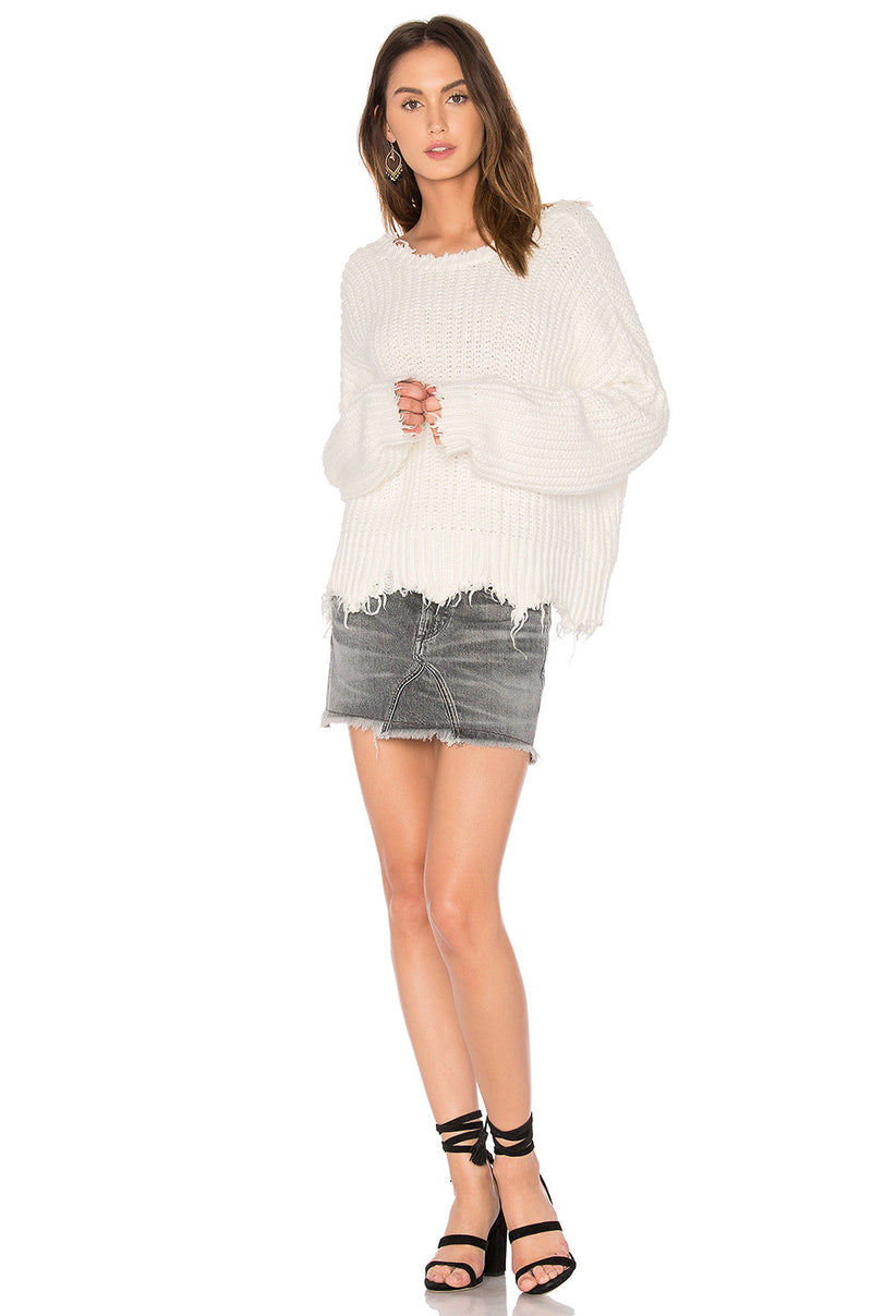 Wildfox Palmetto Sweater White