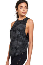 Strut This Cruz Tank Top Black Camo