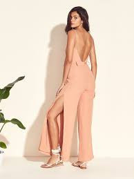 Lovers + Friends Charisma Jumpsuit Tan
