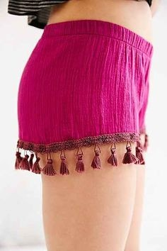 Salt Swimwear Purple Fringe Zoe Shorts
