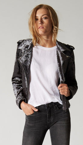 Blank NYC Group Love Faux Fur Denim Jacket