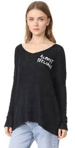 Wildfox Almost Feelings Beyond Sweater Black