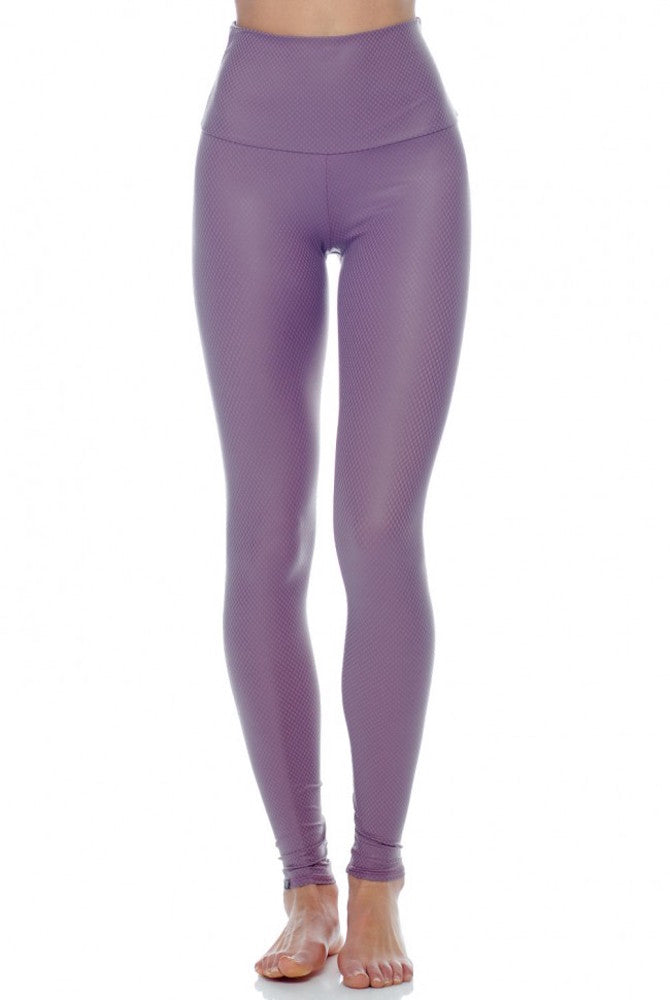 Onzie High Rise Legging Purple Haze Fishnet