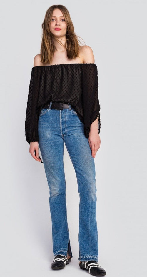 Wildfox Miami Dot Mariette Top