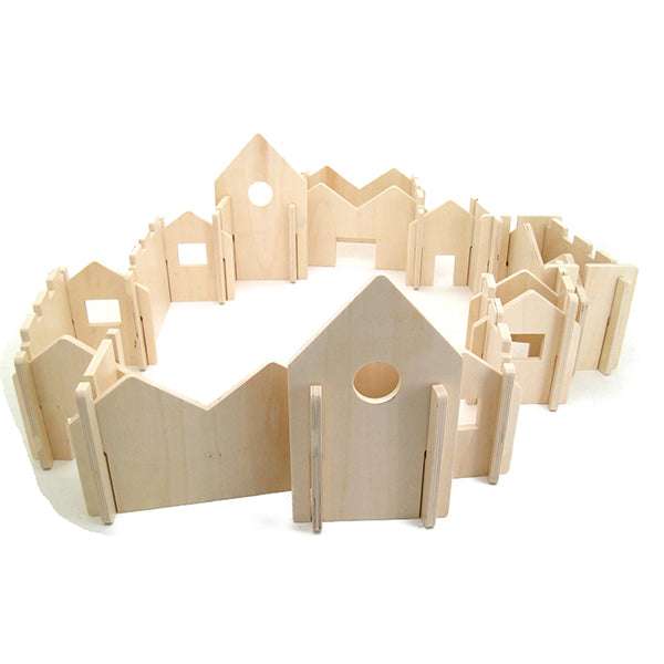 The Happy Architect Building Set (natural) - Wooden World