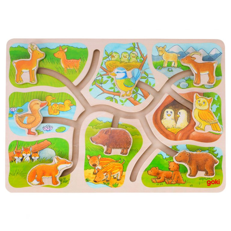 Goki - Sliding Puzzle - who belongs to who - Wooden World