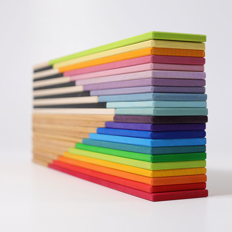 Grimm's Rainbow Building Boards - Wooden World