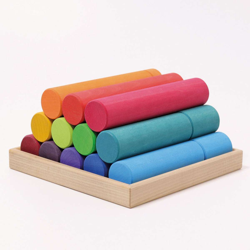 Grimm's Large Building Rollers Rainbow **NEW PRODUCT 2020**