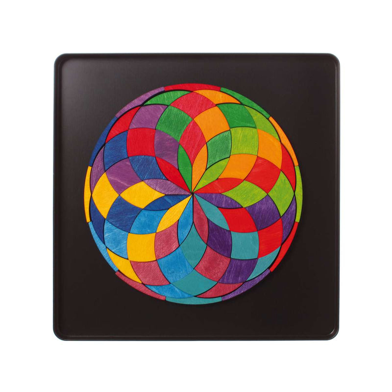 Grimm's Mini Magnetic Colour Spiral Mandala - Wooden World