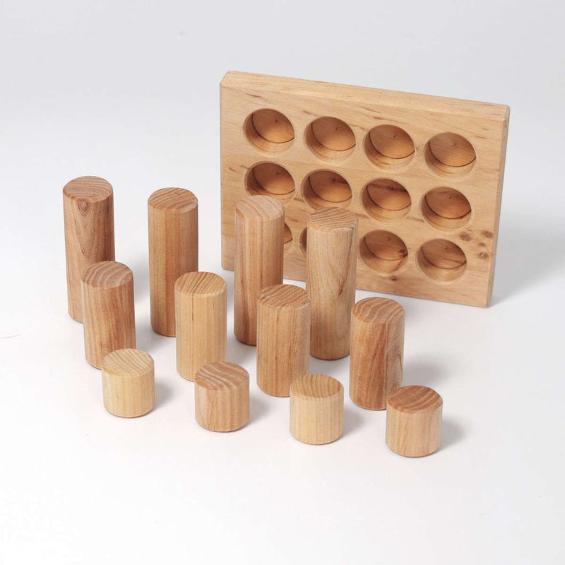 Grimm's Stacking Game Small Natural Rollers - Wooden World