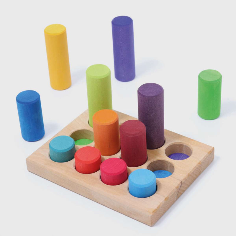 Grimm's Stacking Game Small Rainbow Rollers **NEW PRODUCT 2020** - Wooden World