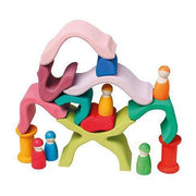 Grimm's Stacking Flower-Grimm's-Wooden World-Educational-Toys Australia