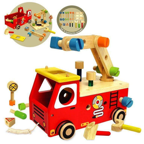 Fire Fighter Builder-I'm Toy-Wooden World-Educational-Toys Australia