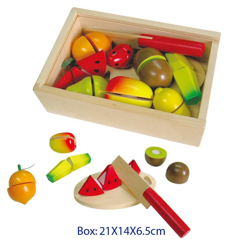 Fun Factory - Wooden Fruit Cutting Set - Wooden World