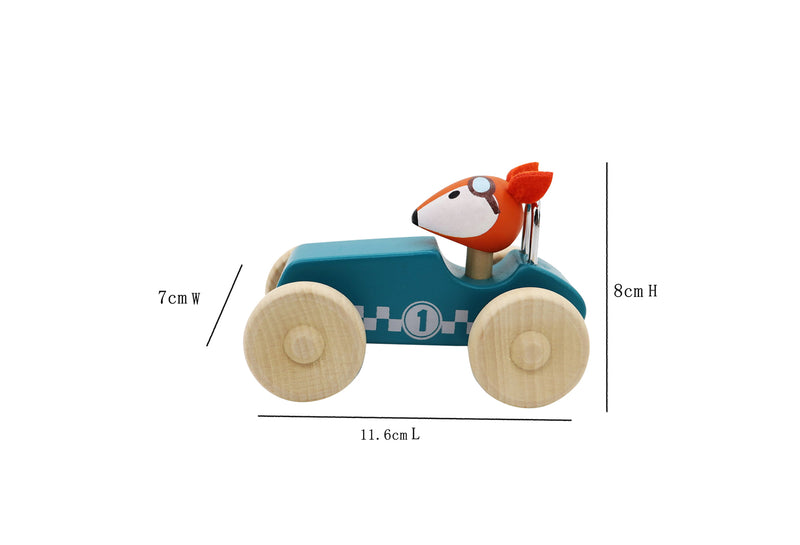 KaperKidz - Wooden Race Car with Driver
