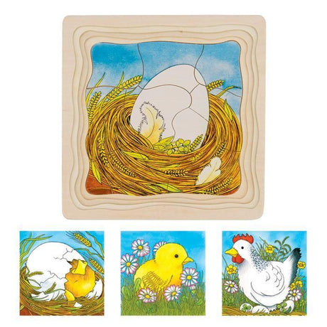 Lifecycle Puzzles (4 Layers)-GOKI-Wooden World-Educational-Toys Australia