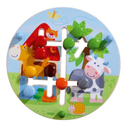 Skills Board Reversible Farm-Janod-Wooden World-Educational-Toys Australia