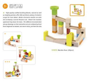 Viga Toys - Wooden Marble Run Set