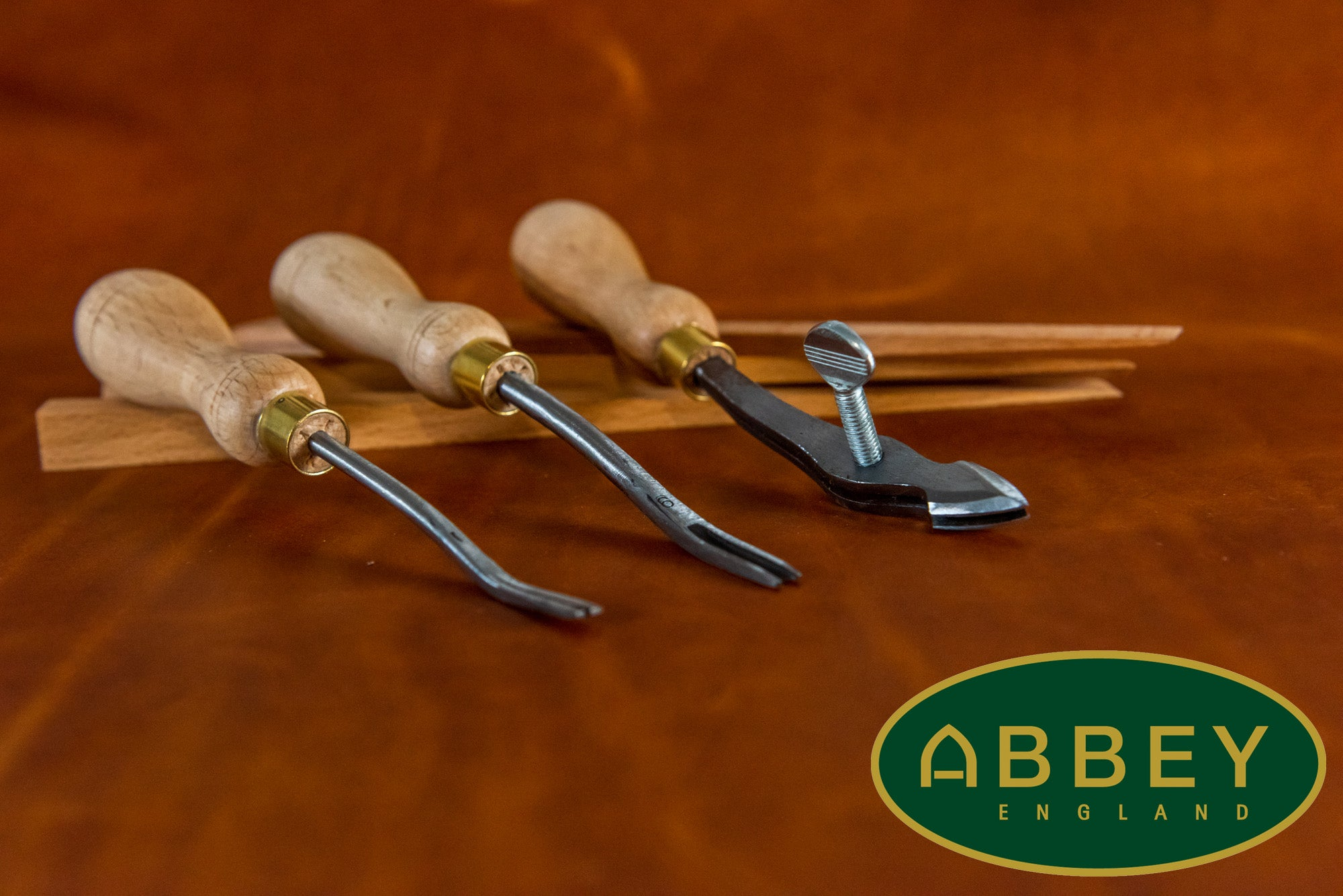 Leathecraft tools from Abbey England
