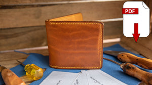 make your own leather wallet, bifold pdf pattern pack