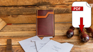 leather card holder pdf pattern pack